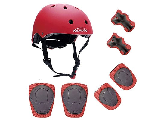 Kumugo protective Helmet, Knee pads, Wrist and Elbow pads