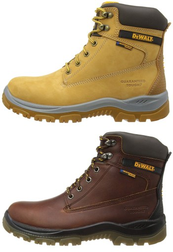 dewalt construction boots honey or tan colours available