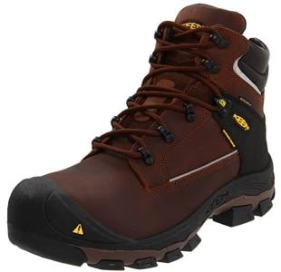 KEEN Utility Men's Portland Puncture Resistant 6 Inch Aluminum Toe Work Boot FRont