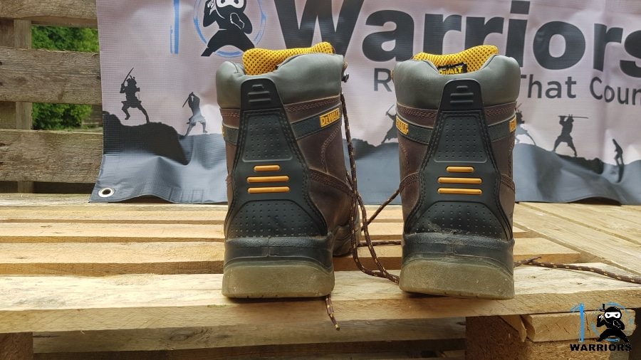 dewalt mens titanium work boots rear view
