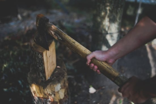 best log splitter for camping